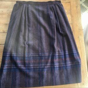 Pendleton classic wool skirt